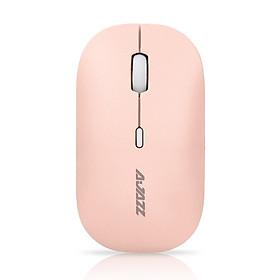 Chuột Không Dây Không Ồn AJAZZ i18 Pink Silient Mouse (Màu Hồng) - Hàng Nhập Khẩu