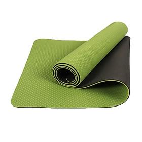 Thảm Tập Yoga chống trượt 2 lớp dày 6mm chất liệu cao su non TPE cao cấp tấm thảm tập gym thể dục tại nhà