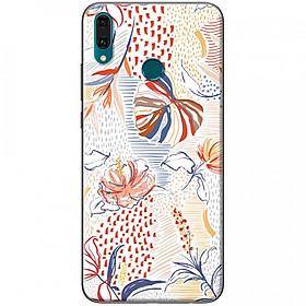Hình đại diện sản phẩm Ốp lưng dành cho Huawei Y9 2019 mẫu Trầu bà lá xẻ nhiều màu