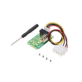 Fun Mini PCIe to PCI Express 4x 8x 16x Slot Riser Card Adapter with 4 PIN Power Cord for Production Testing - Green