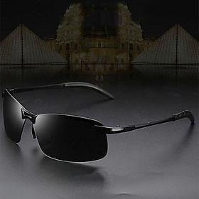 Men's Polarized  for Driving Fishing Golf Half Metal Frame UV400 Eyewear