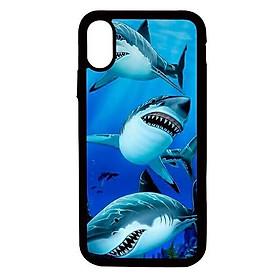Ốp lưng cho điện thoại Iphone Xs Max Cá mập - Hàng chính hãng