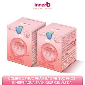 Combo 2 thực phẩm bảo vệ sức khỏe Innerb Aqua Bank (giúp giữ ẩm cho da từ Axit Hyaluronic) lọ 56 viên - Sản Phẩm Chính Hãng