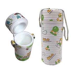 Túi ủ bình sữa đơn cho bé họa tiết ngẫu nhiên