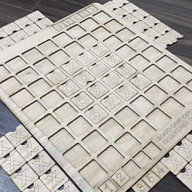 Board Game Cờ Caro Bằng Gỗ 64 Quân Cờ Có Bàn Chơi Cho Cả Nhà Giải Trí Cuối Tuần Phiên Bản Mới