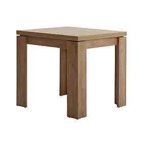 Bàn ăn JYSK Vedde gỗ công nghiệp màu sồi R80xD80/160xC78cm