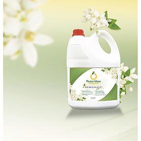 Nước giặt xả hữu cơ 2in1 Peace Mass có tác dụng làm trắng, sạch vết bẩn, an toàn cho mọi làn da kể cả trẻ sơ sinh 3.6l