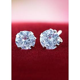 Bông tai bạc nữ đẹp đính đá BTN0044