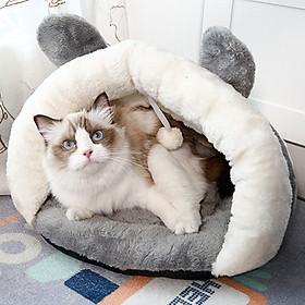Ổ Nệm Dễ Thương Cho Mèo - Nhà & Nệm Cao Cấp Mềm Mại