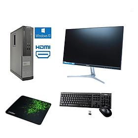 Bộ Máy Tính Để Bàn Dell Optiplex  ( Core i5 - 3570/ 8gb / SSD 256GB ) Và Màn Hình KINGVIEW 22' inch - Tặng Ngay Bàn Phím Chuột Không Dây - Hàng Nhập Khẩu