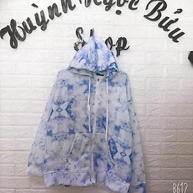 Áo khoác loang màu / hoodie zip 3d / hoodie zip tie dye unisex