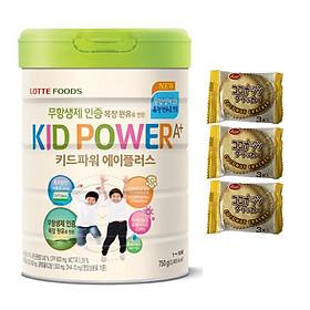 Sữa bột KID POWER A+ Hàn Quốc 750G ( cho trẻ từ 1-10 tuổi) - Tăng cường sức đề kháng, phát triển chiều cao và trí não – Tặng 3 bánh quy Nhật Bản hiệu Aee