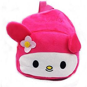 Balo cho bé mầm non - Hình thỏ con màu hồng siêu đáng yêu
