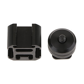Ulanzi PT-3 3 in 1 Triple Hot Shoe Mount Adapter Converter Mic Stand Bracket