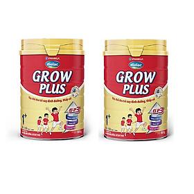 BỘ 2 LON SỮA BỘT VINAMILK DIELAC GROW PLUS 1+ 900G (CHO TRẺ TỪ 1 - 2 TUỔI)