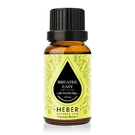Tinh Dầu Hỗ Trợ Hô Hấp Breathe Easy Blends Essential Oil Heber | 100% Thiên Nhiên Nguyên Chất | Cao Cấp Nhập Khẩu