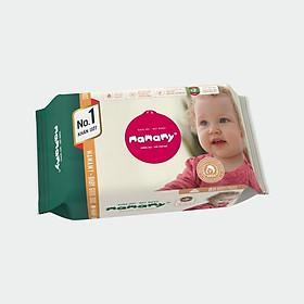 Khăn ướt ngừa hăm, kháng khuẩn an toàn cho bé Mamamy 80 tờ bổ sung (không có nắp)