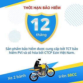 [E-Voucher] Bảo Hiểm Bắt Buộc Trách Nhiệm Dân Sự EZIN- Xe Mô Tô 2 Bánh Trên 50cc - Gói 12 Tháng