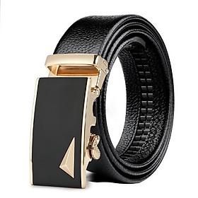Thắt lưng nam, dây nịt nam cao cấp dây da khóa tự động mẫu HOT Style Lịch Lãm - Mặt phối tam giác cá tính T1TG36