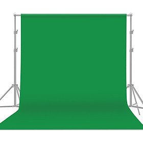 1.8 * 3m / 6 * 9.8ft Professional Green Screen Backdrop Studio Photography Background Washable Durable Polyester-Cotton