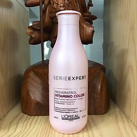 Dầu xả tóc phục hồi và giữ màu tóc nhuộm L'oreal Serie Expert Resveratrol Vitamino color radiance 200ml [ Mới Chính Hãng ]