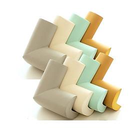 Bộ 8 bọc góc bàn bằng mút an toàn cho trẻ nhỏ có sẵn miếng dán (Màu ngẫu nhiên)