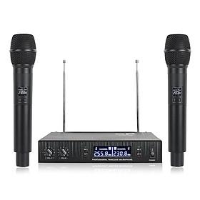 Hệ thống mic không dây VHF V2020 với 2 micrô cầm tay hai chiều ChannelDesign chống nhiễu đối với Live, Stage
