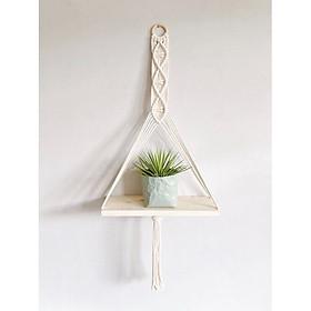 dây treo tường trang trí lọ hoa chậu cây macrame handmade