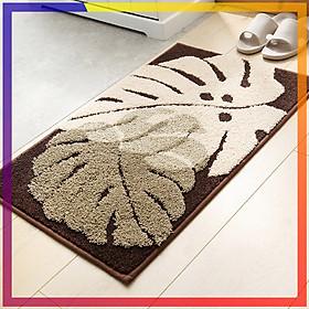 Thảm lau chân hình lá cây CAO CẤP, có thể dùng thảm chùi chân này trong nhà tắm hoặc ngay cửa ra vào. Đặc biệt thảm lau chân có đế chống trượt TPR và lông mềm mịn