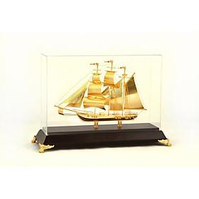 Mô hình thuyền buồm mạ vàng 30 cm để bàn làm việc