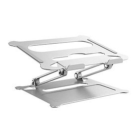Adjustable Aluminum Laptop Stand Ergonomic Multi-Angle Desk Laptop Holder w/Heat-Vent for Notebook MacBook Dell HP More 10-17.3""