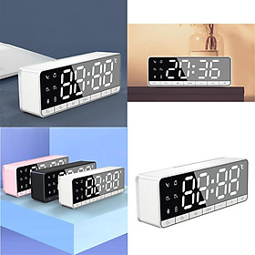 5.0 Bluetooth Speaker Radio Alarm Clock Radio for Bedrooms, Digital Alarm Clock Dual Alarms, Alarm Clock Radio Large Display with Bluetooth Speaker