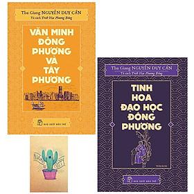 Combo  Văn Minh Đông Phương Và Tây Phương và Tủ Sách Triết Học Phương Đông - Tinh Hoa Đạo Học Đông Phương ( Tặng Kèm Sổ Tay )