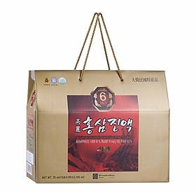 Thực phẩm chức năng nước hồng sâm Hàn Quốc 6 năm tuổi Chong Kun Dang 6 Years Korean Red Ginseng Extract Liquid 70ml x 30 gói