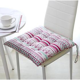 Đệm ngồi bệt, gối lót ghế vuông SBK001