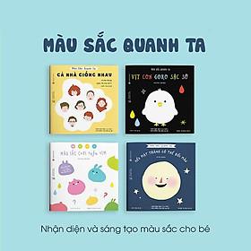 Combo 4 cuốn truyện tranh Ehon Nhật Bản - Màu sắc quanh ta (Cả nhà giống nhau, Vịt con Goro sặc sỡ, Màu sắc chơi trốn tìm, Nếu mặt trăng có thể đổi màu) - Dành cho trẻ từ 3 - 6 tuổi