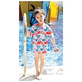 Đồ bơi cho bé gái 3 mảnh kiểu dáng với thiết kế rất đáng yêu