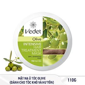 Bộ 2 Hũ Ủ Tóc Olive Vedette Chắc Khỏe tặng 2 Mặt Nạ Tóc Tiện Lợi 260g-1