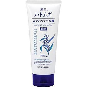 Sửa Rửa Mặt Ý Dĩ Hatomugi Naturie nội địa Nhật Bản 130g làm sạch nhờn, làm sáng da, mờ thâm mụn [ Được Mask 3W Clinic ]