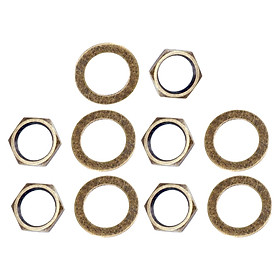 Set of 10 3/8 inch Guitar Bass Nuts Lock Washer for Guitar Bass Accessories