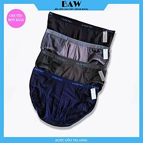 Quần Lót nam thông hơi, Quần Boxer nam vải thun lụa băng co giãn thoáng mát thương hiệu BAW (Combo 5 quần màu ngẫu nhiên) NT7979