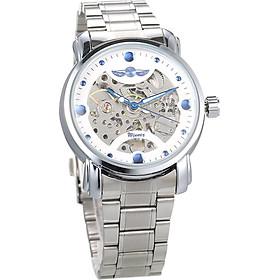 Winner Men Luxury Business Automatic Mechanical Watch Fashion Stainless Steel Band Skeleton Wrist Watch
