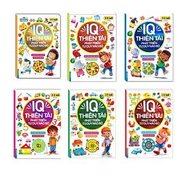 Combo Sách IQ Thiên Tài Phát Triển Tư Duy Não Bộ 1-7 Tuổi (Bộ 6 cuốn)