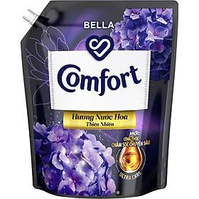 Nước Xả Làm Mềm Vải Comfort Chăm Sóc Chuyên Sâu Hương Nước Hoa Thiên Nhiên Bella Túi 3.8L