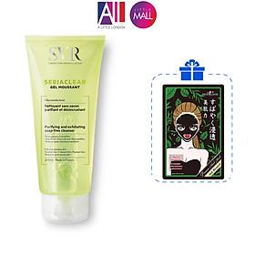 Gel rửa mặt không xà phòng, làm sạch SVR sebiaclear gel moussant TẶNG mặt nạ Sexylook / bông tẩy trang Jomi (Nhập khẩu)