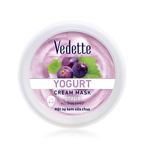 Mặt nạ sữa chua nho dưỡng ẩm mịn màng Vedette hũ Yogurt Cream Mask - Grape 120ml