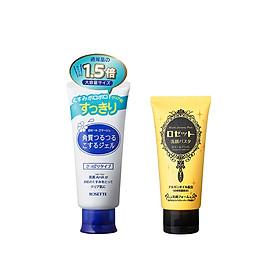 Bộ Sữa Rửa Mặt Sáng Da Rosette Face Wash Pasta Ghassoul Bright 120g và Tẩy Tế Bào Chết Cho Mọi Loại Da Rosette Gommage 180g