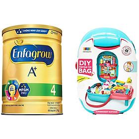 Combo 1 Lon Sữa Bột Enfagrow A+ 4 1.7kg Tặng Bộ Đồ Chơi Siêu Thị