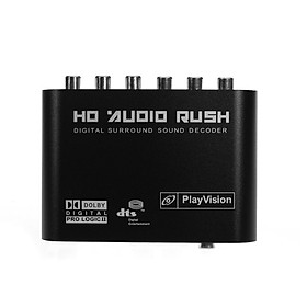 5.1 Audio Decoder SPDIF Coaxial to RCA DTS AC3 Digital to 5.1 Amplifier Analog Converter for DVD Player