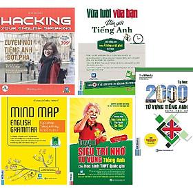 Combo 5 quyển: 1. Luyện Nói Tiếng Anh Đột Phá +2.Ngữ Pháp Tiếng Anh Bằng Sơ Đồ Tư Duy+3.Luyện Siêu Trí Nhớ Từ Vựng Tiếng Anh Hs giỏi quốc gia (Tái Bản)+4.Tự Học 2000 Từ Vựng Tiếng Anh Theo Chủ Đề+5.Vừa Lười Vừa Bận Vẫn Giỏi Tiếng Anh